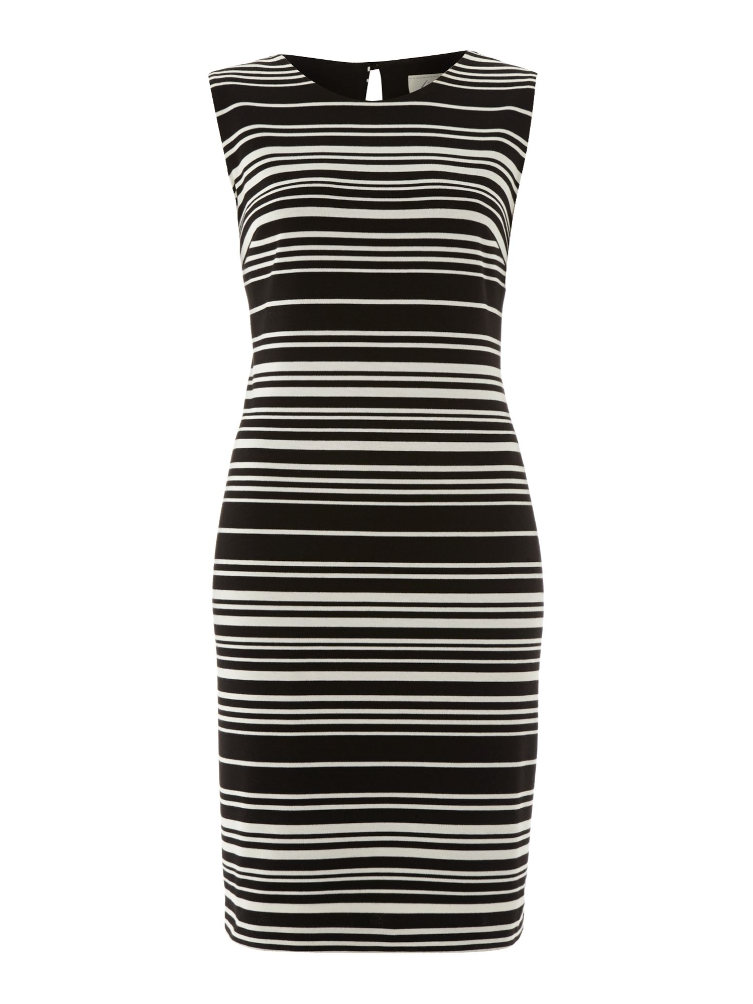 Ponte stripe shift dress