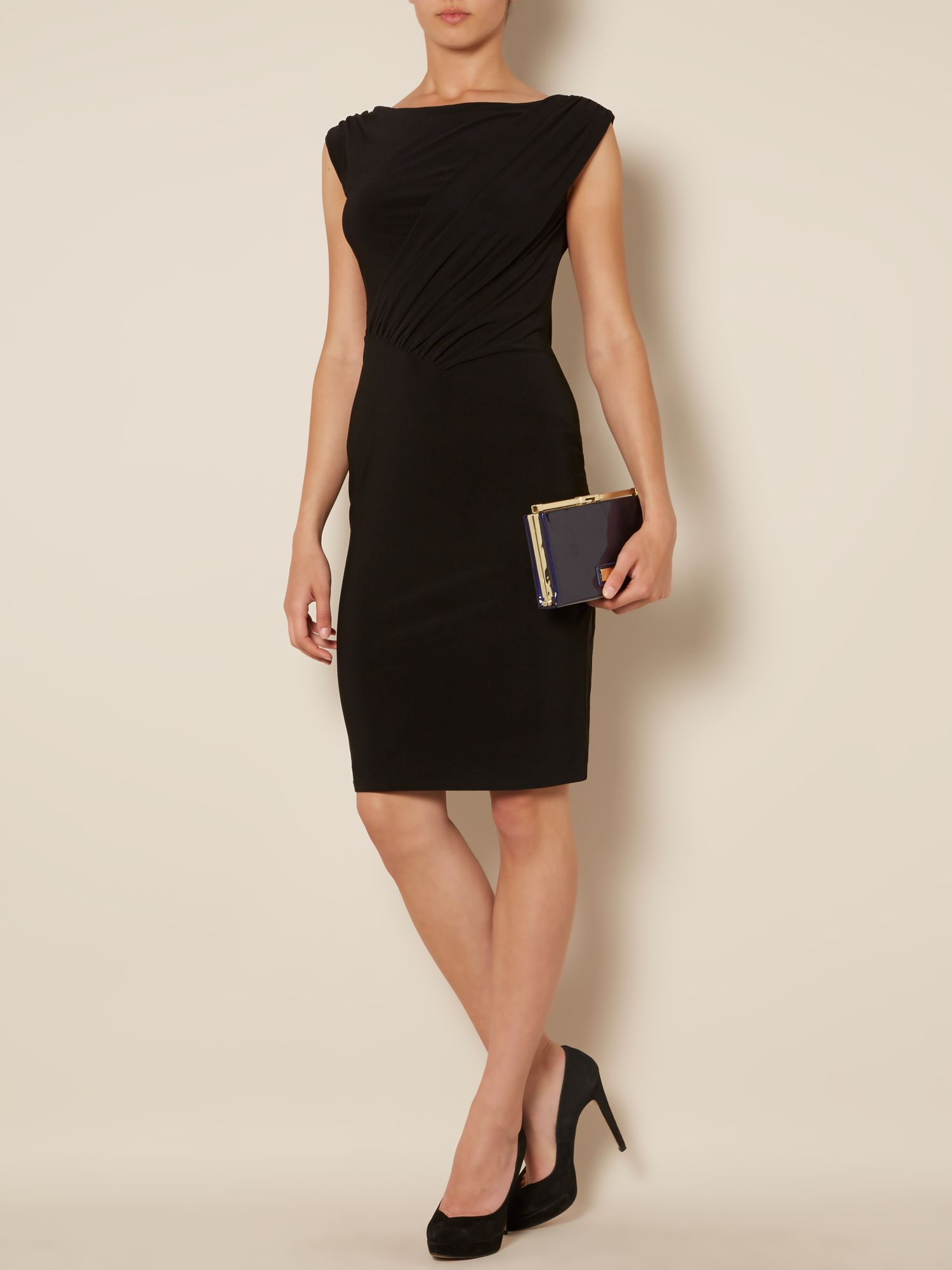 Charlotte grecian sleeveless jersey dress