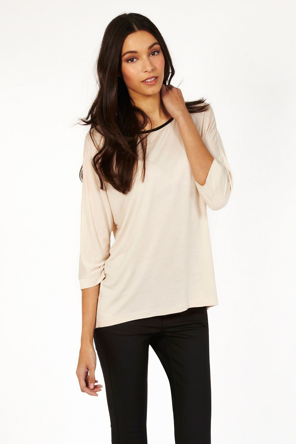 Plain dolman tipped tee