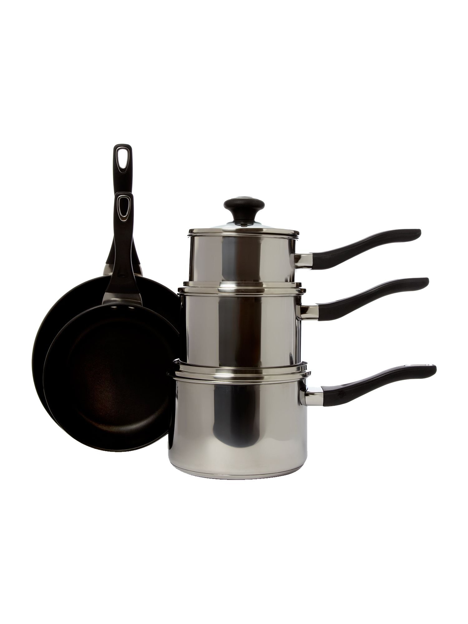 Stainless steel 5 piece pan set