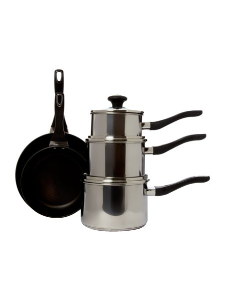 Prestige Stainless steel 5 piece pan set