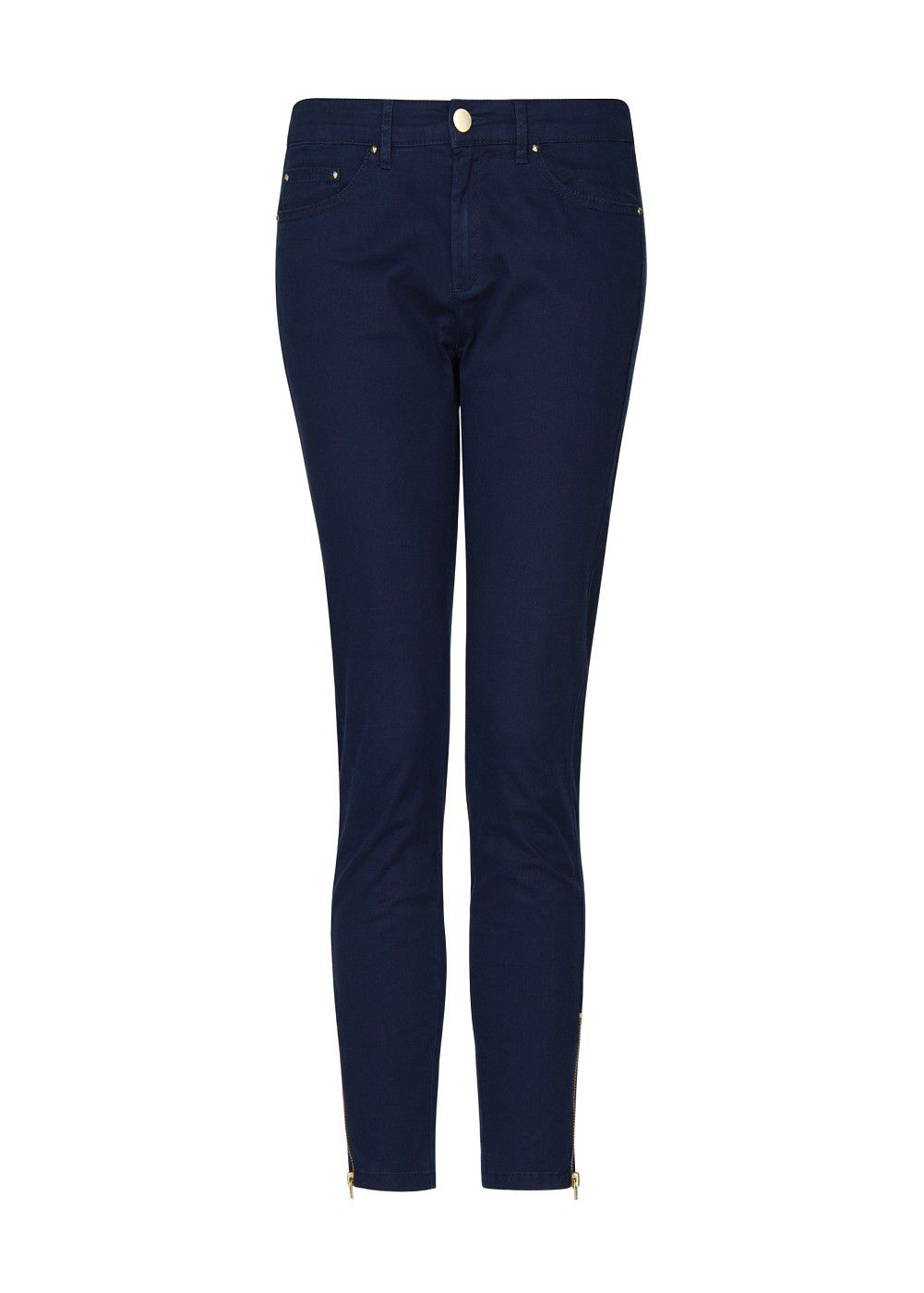 Zippers slim-fit trousers