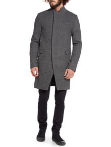 wool long line coat