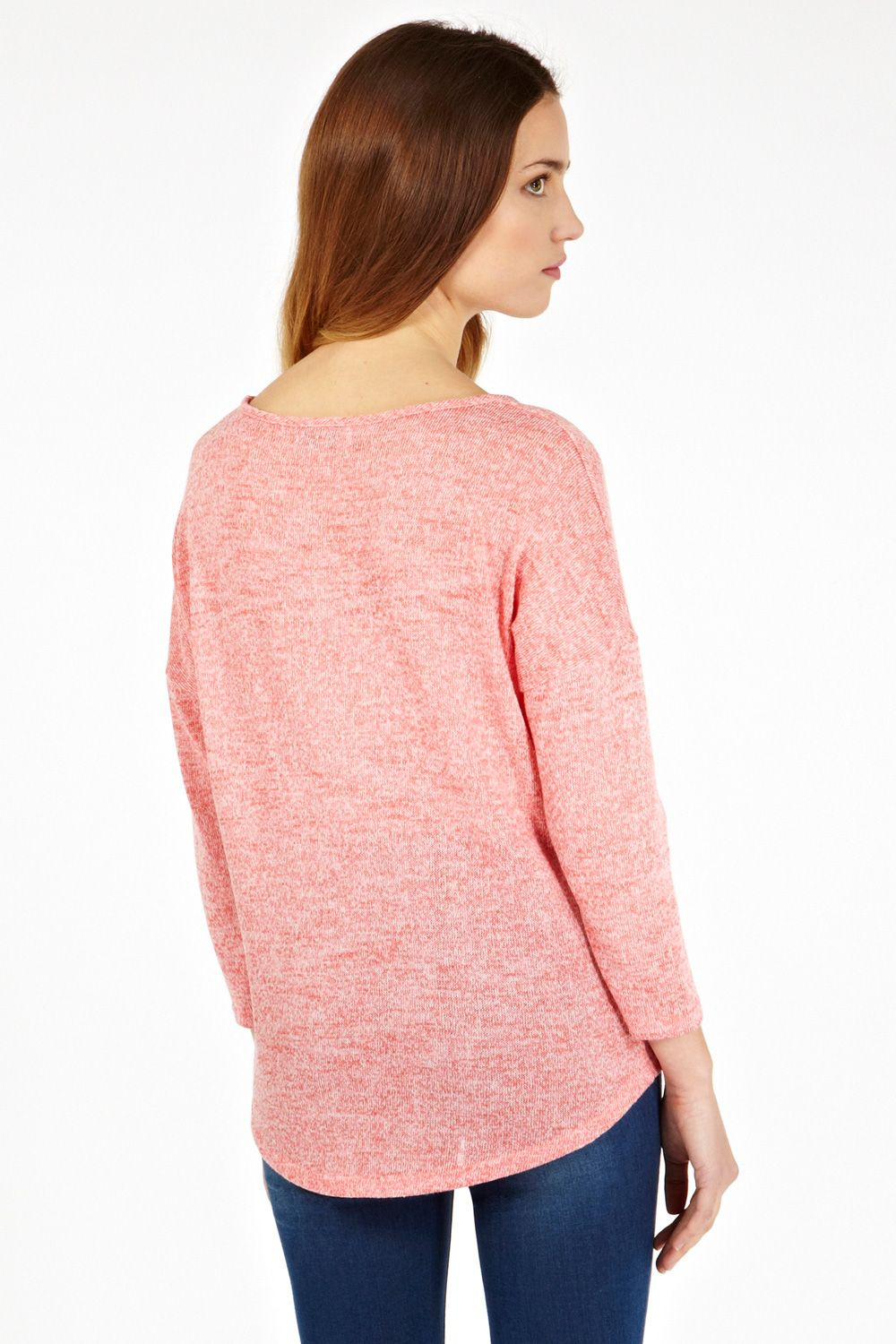 Cut and sew marl sweat top