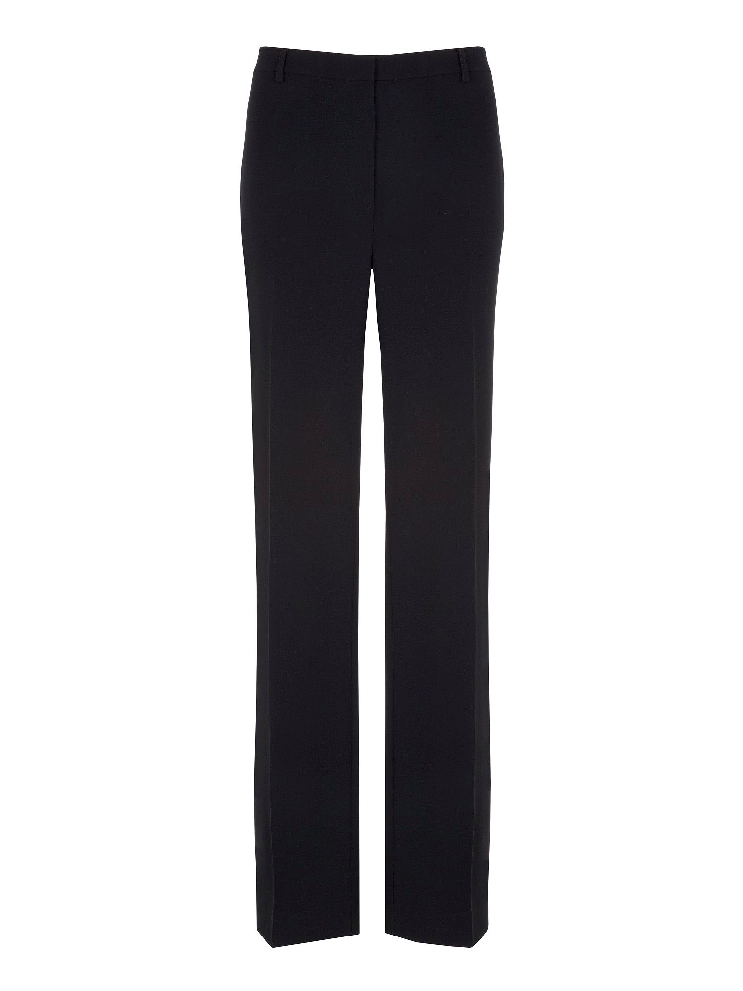 Crepe straight leg trouser
