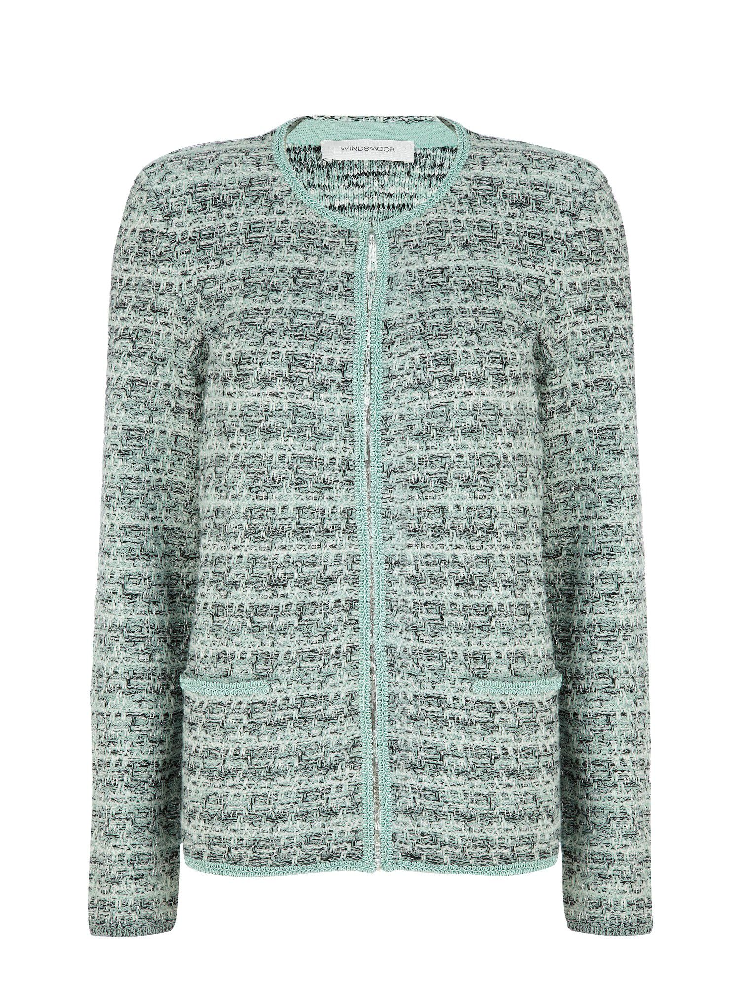Mint tweed cardigan