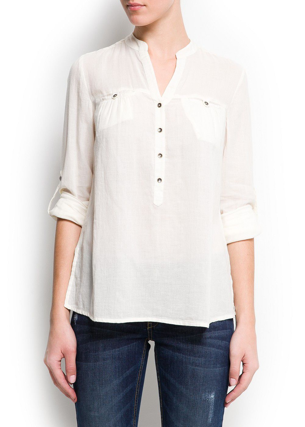 Cotton loose-fit blouse
