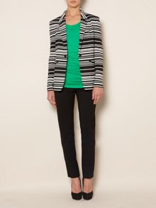 ponte stripe jacket