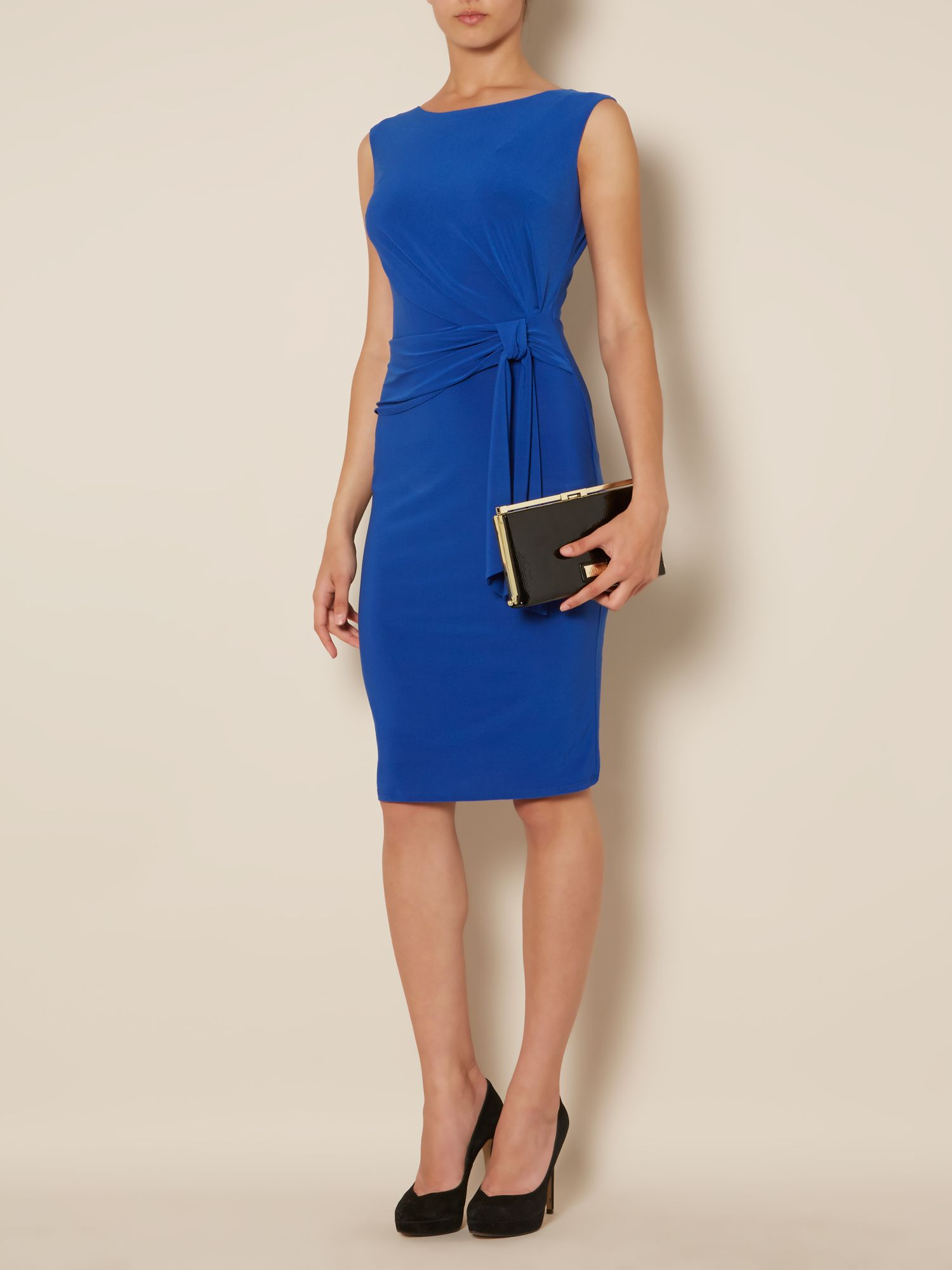 Venessa side tie s/l jersey dress