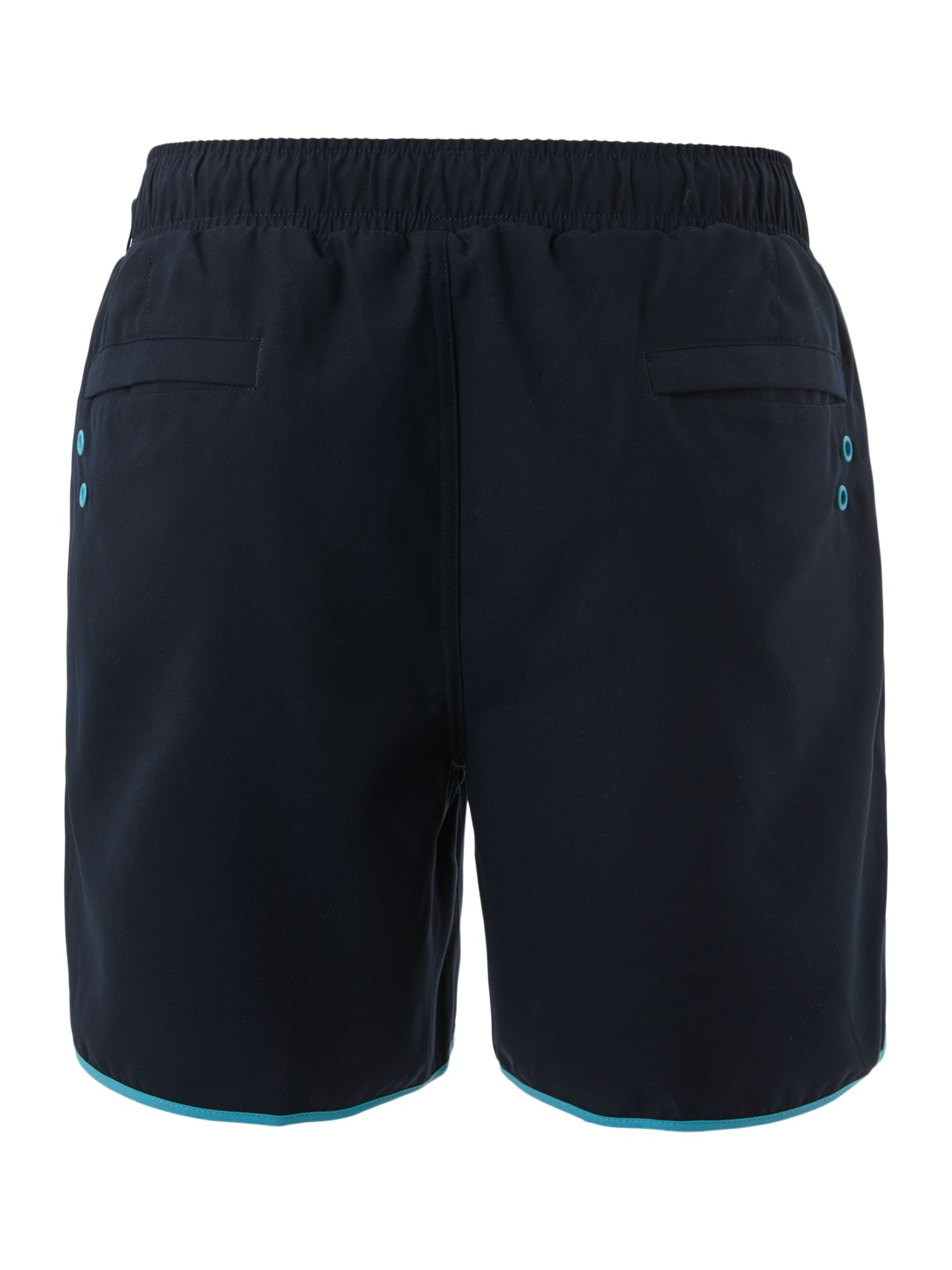 Contrast piping swim short