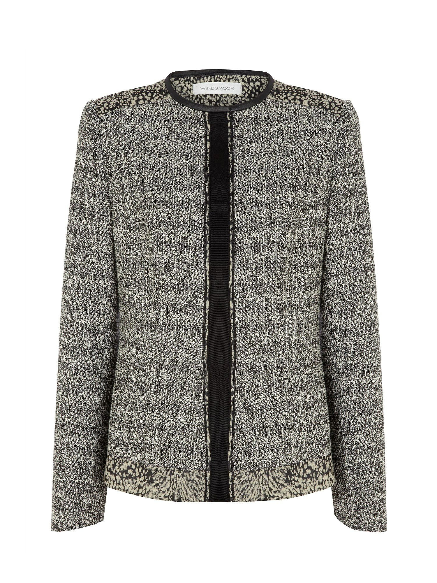 Tweed contrast jacket