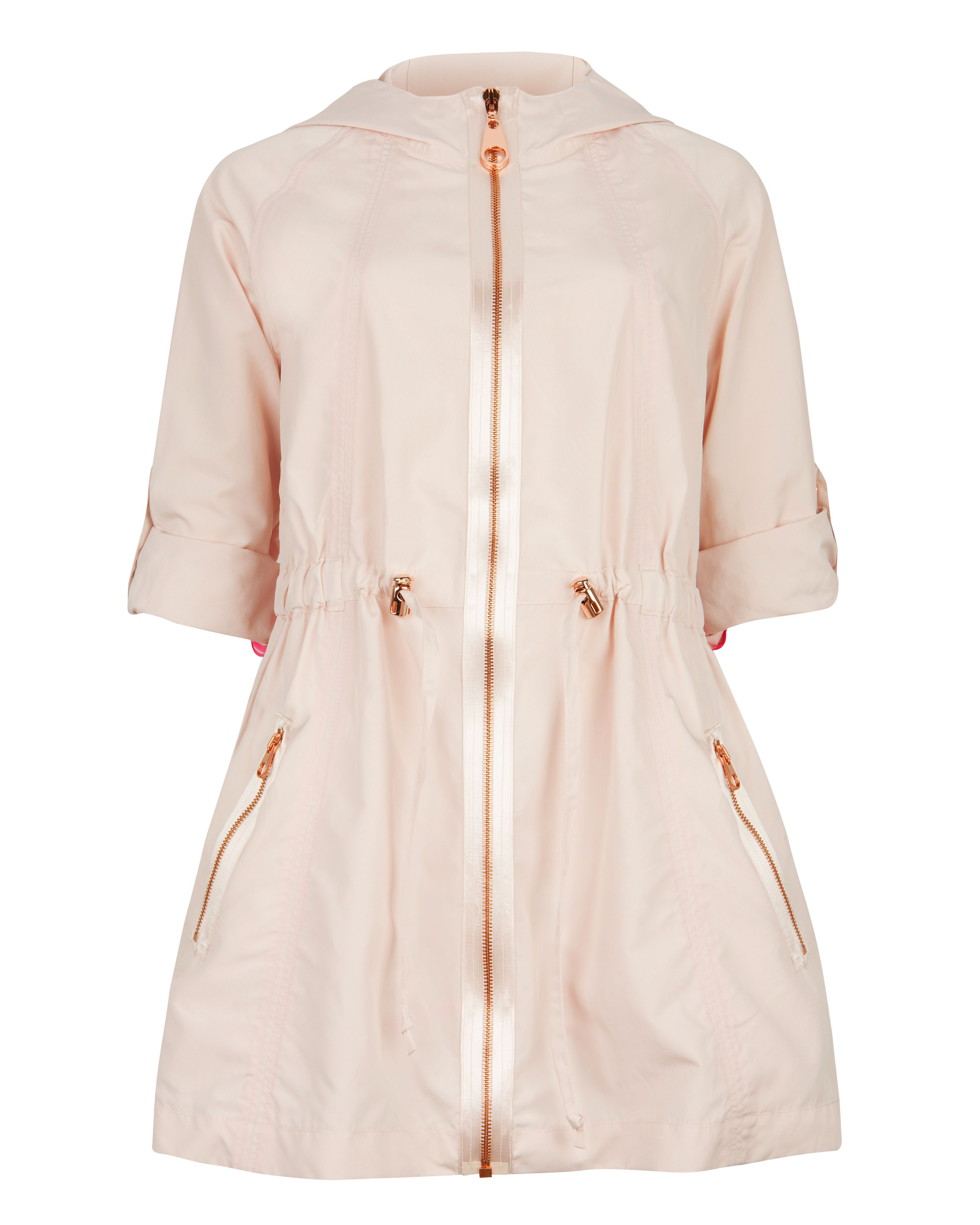 Naaomi zip detail swing jacket