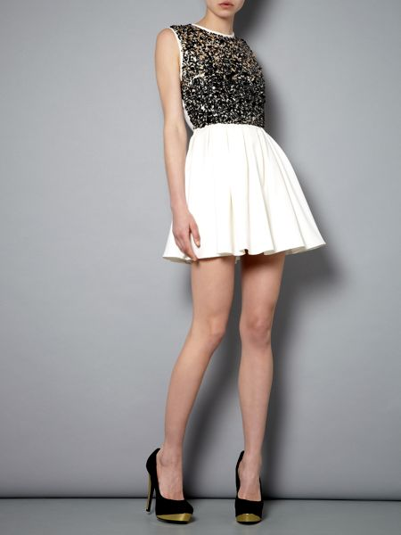 tfnc Multi sequin fit and flare dress