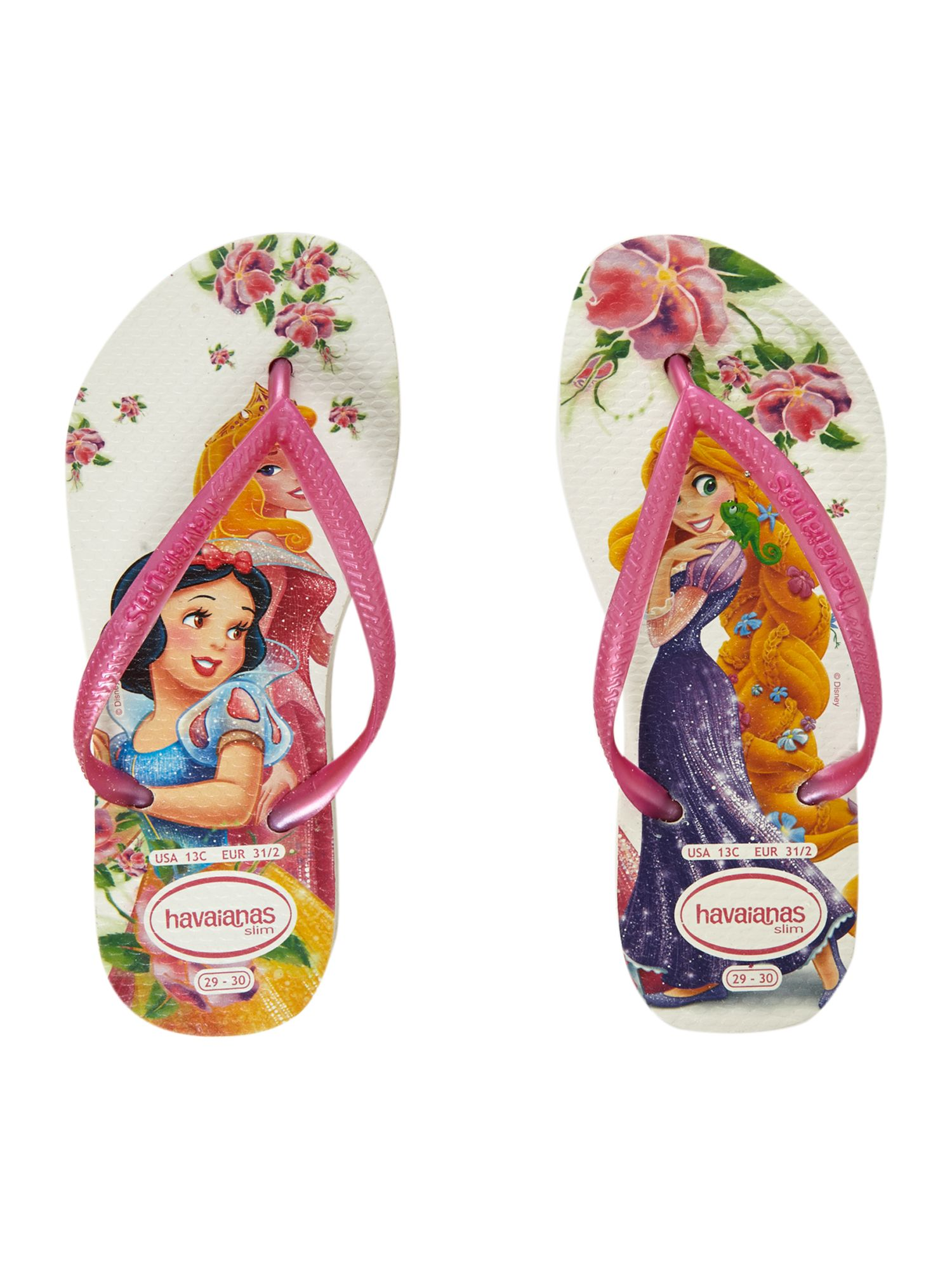 Girl`s Disney princess fip flops
