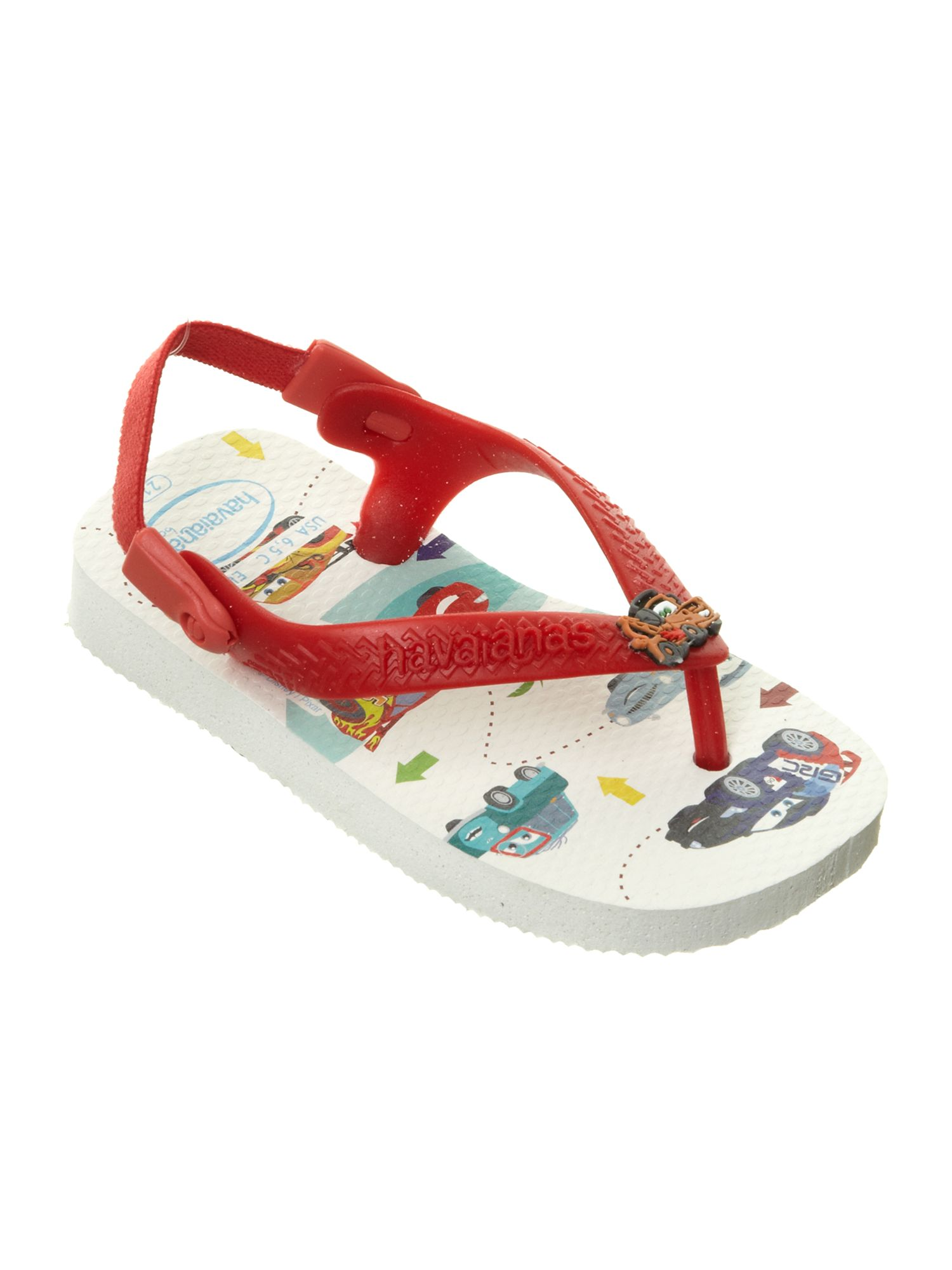 Boy`s Disney Cars printed flip flops