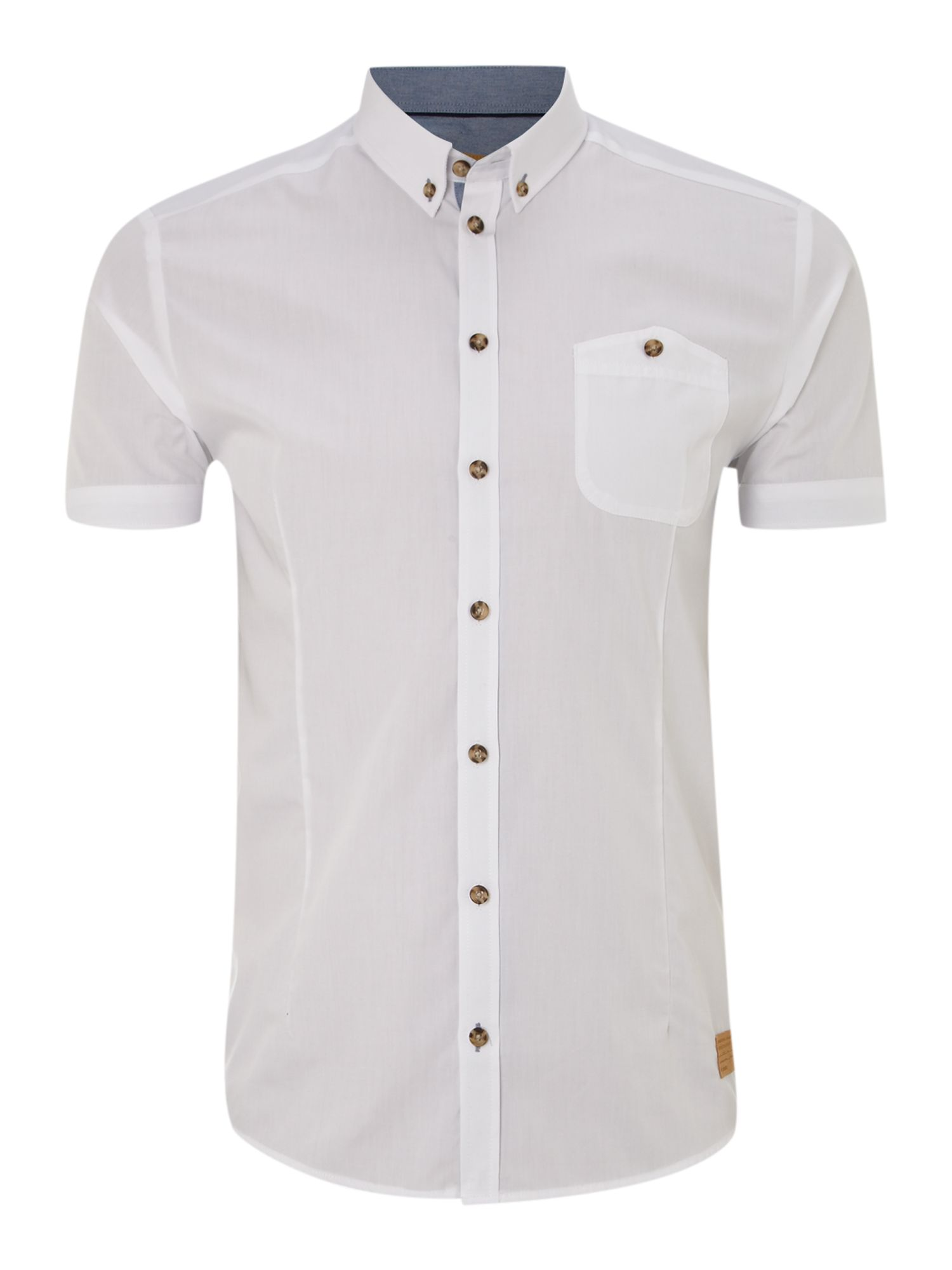 One pocket short sleeve shirt