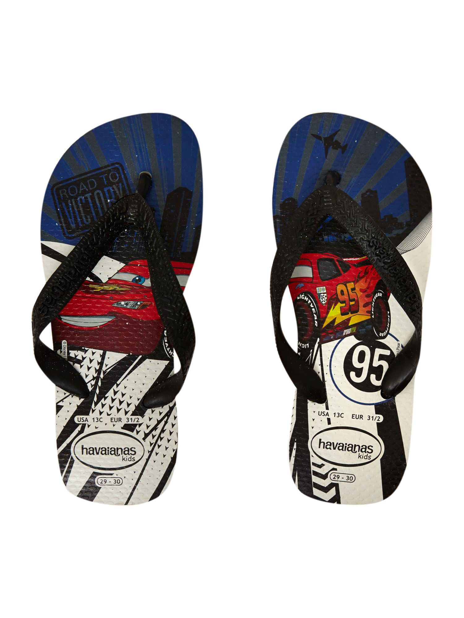 Boy`s Disney Cars flip flops