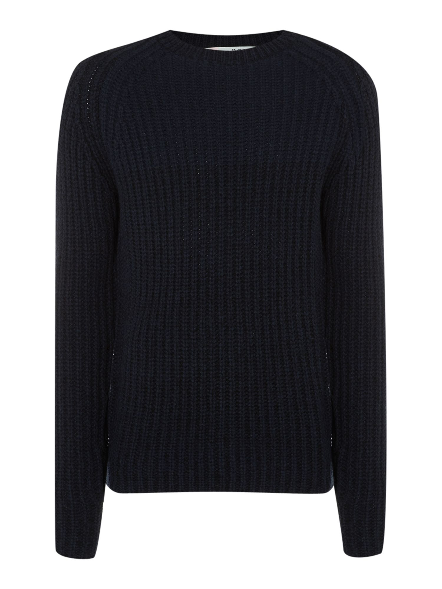 Larri denim twist rib crew neck jumper
