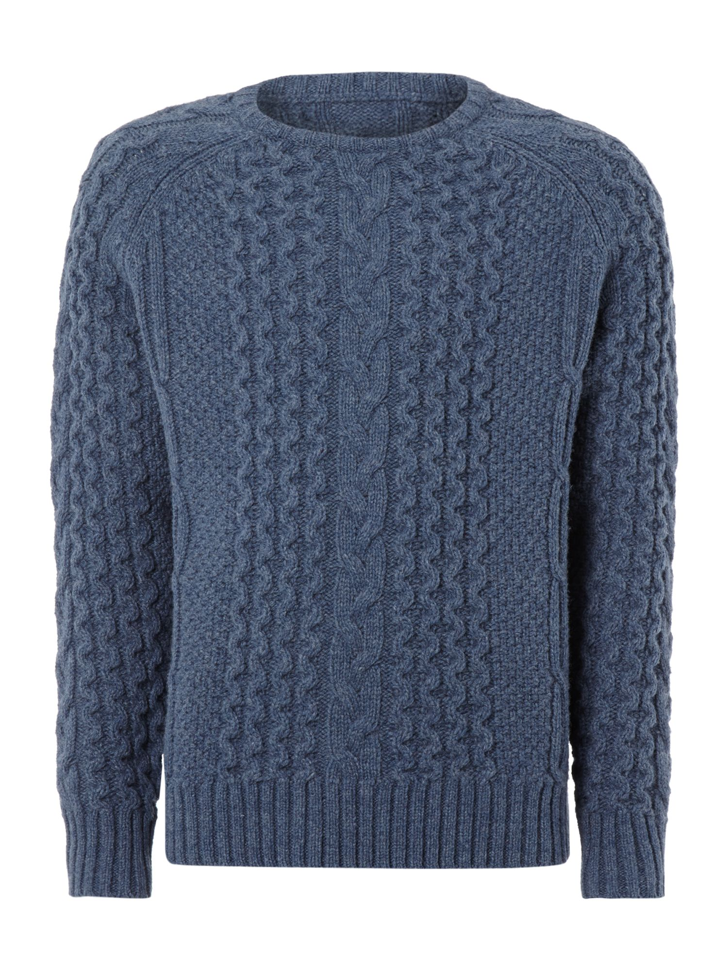 Redmayne limited edition cable crew neck knitwear