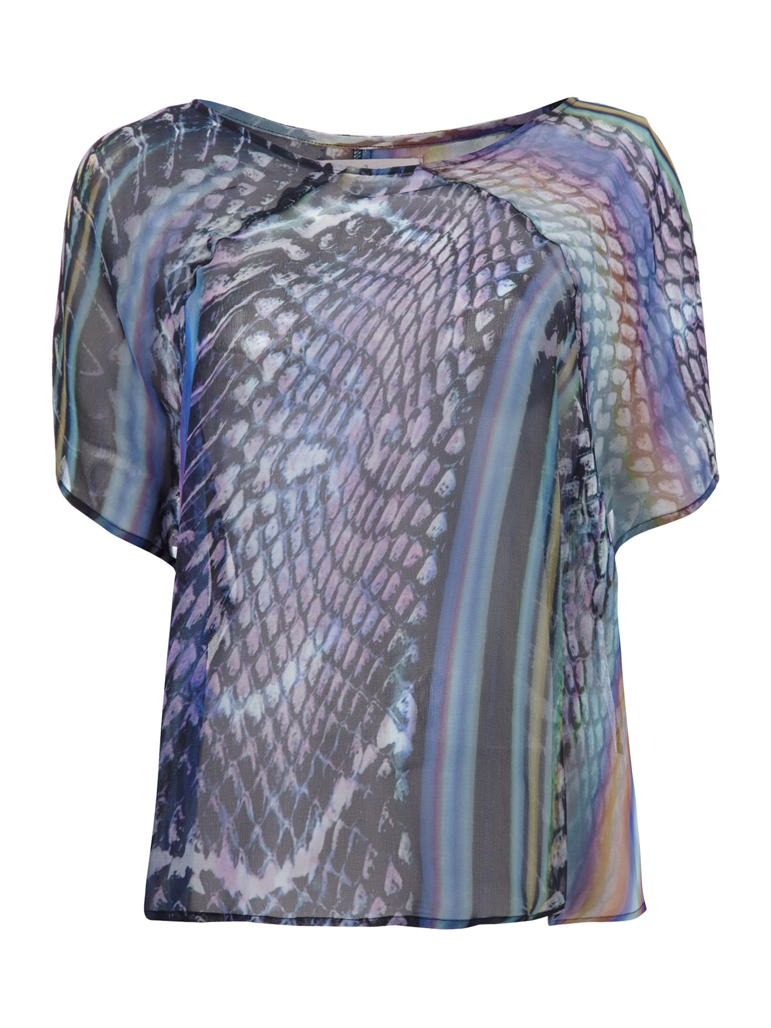 Sports mutation print swing top