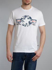 USA star print crew neck T-shirt