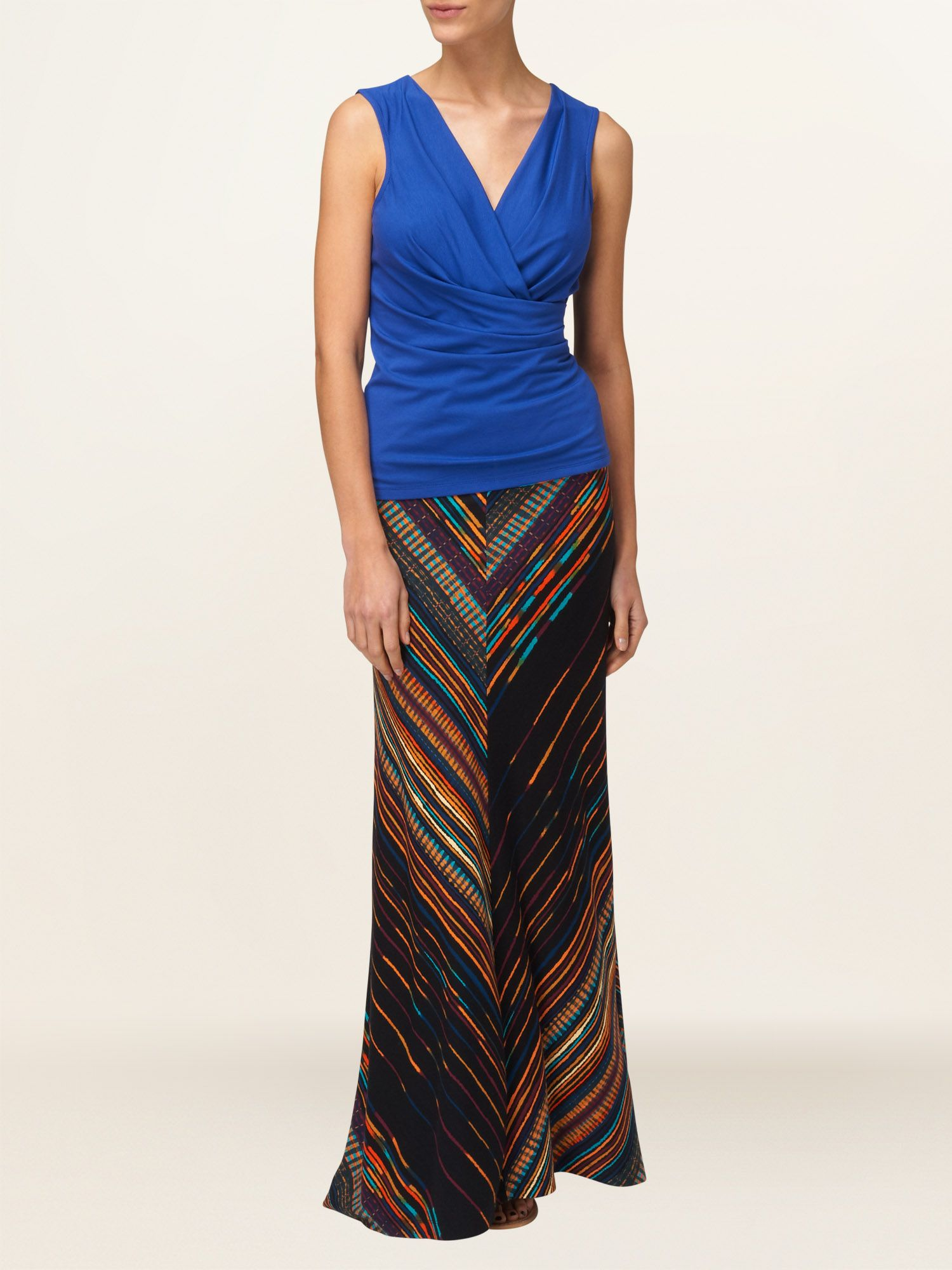Arizona stripe maxi skirt
