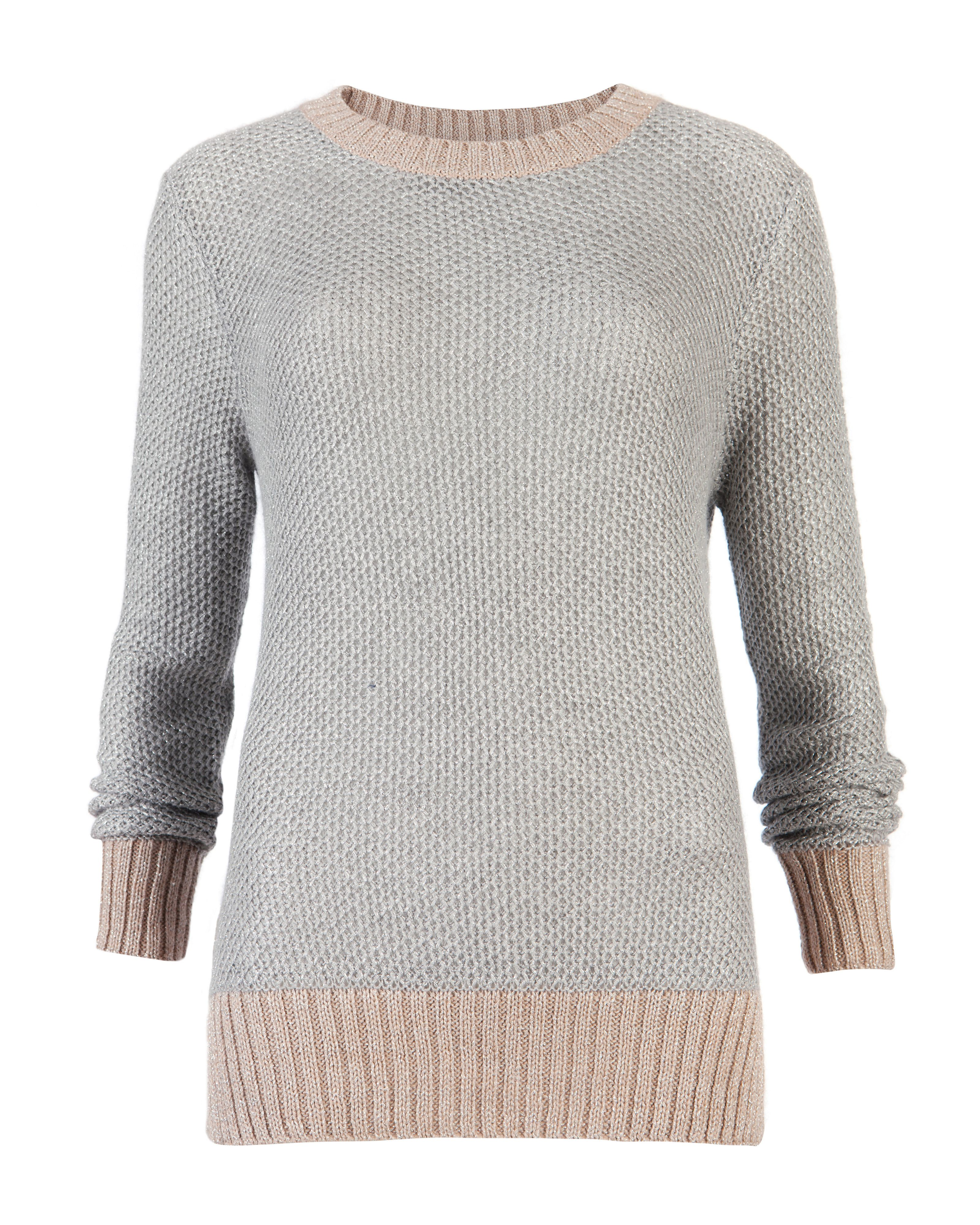 Tiaa stitch detail sweater