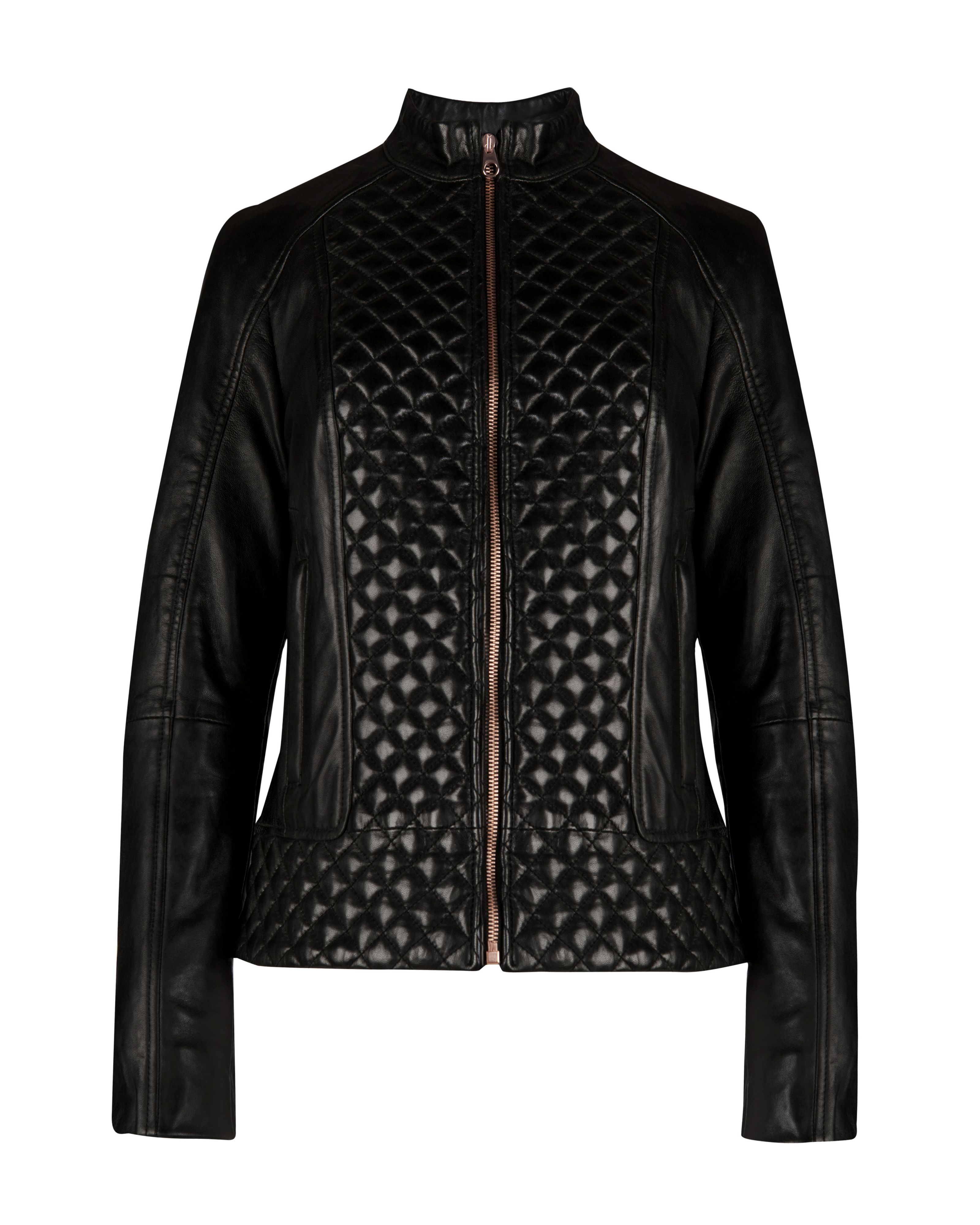 Nyssie quilted leather jacket