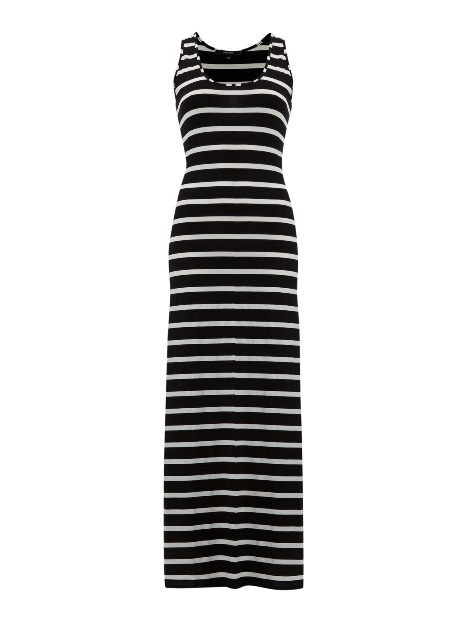 Wide Stripe Maxi Jersey Dress