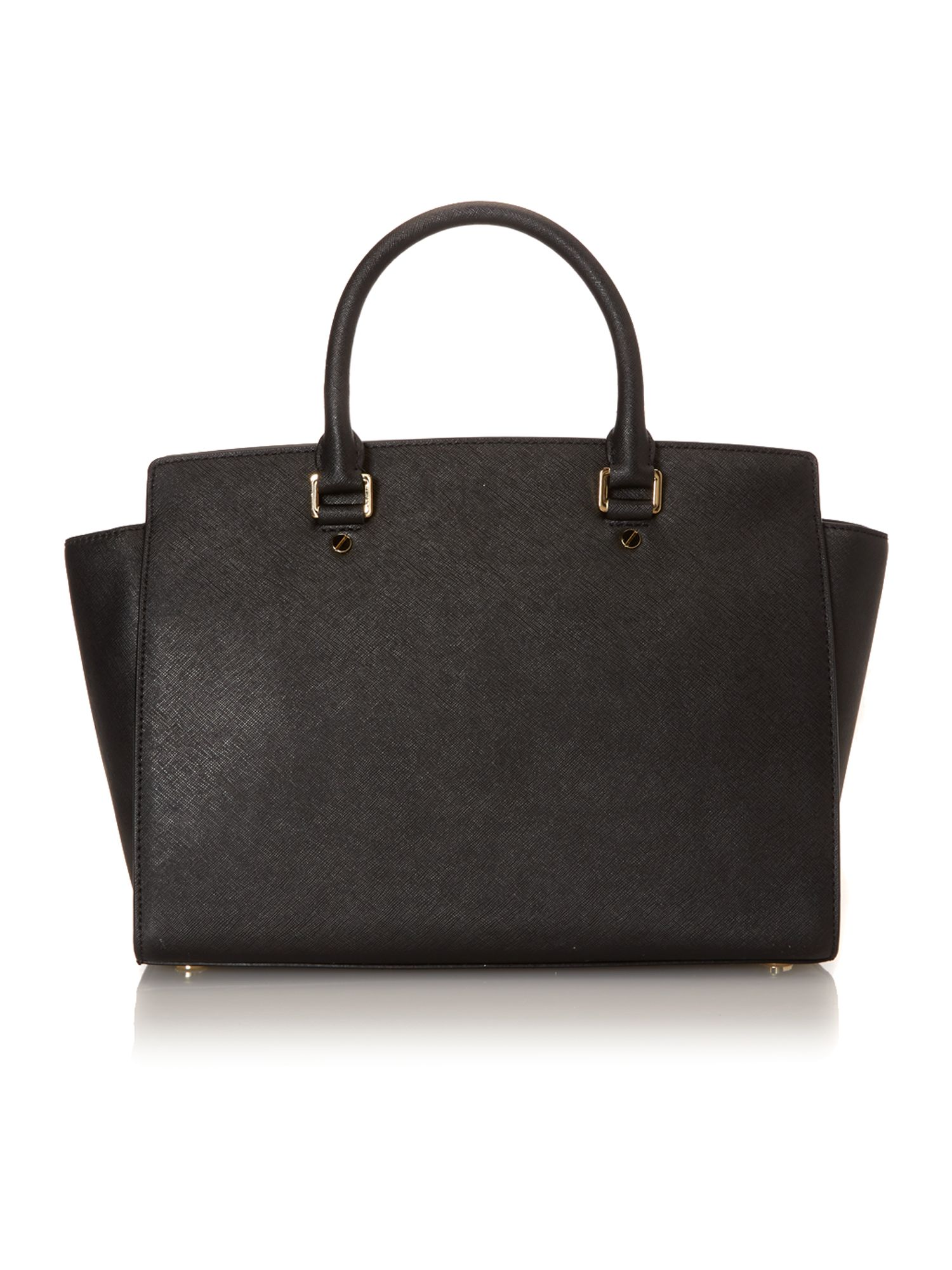 Selma black tote bag