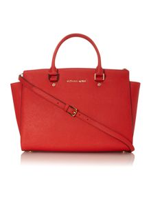 Selma orange red tote bag