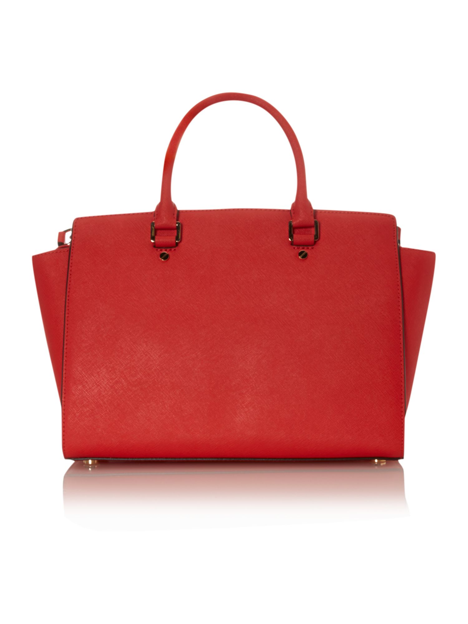 Selma red tote bag