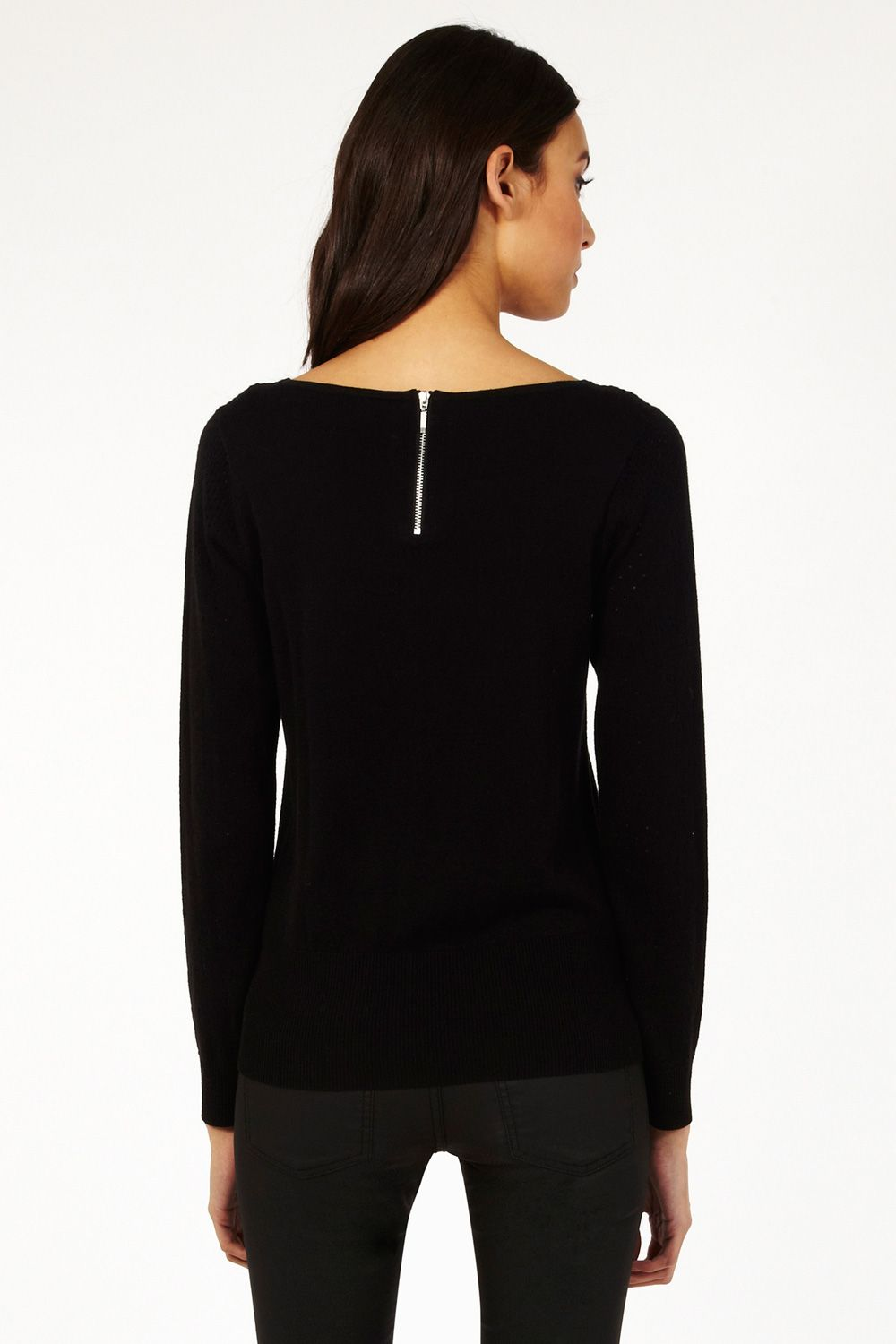 Pointelle yoke jumper