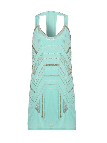 Uttam Boutique Art deco embellished tunic dress