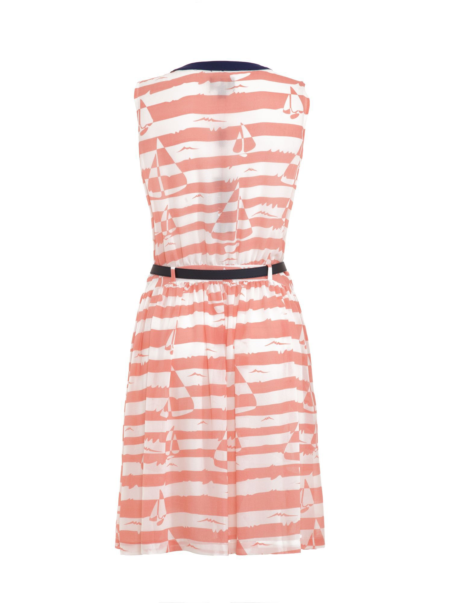 Boat and stripe print dress