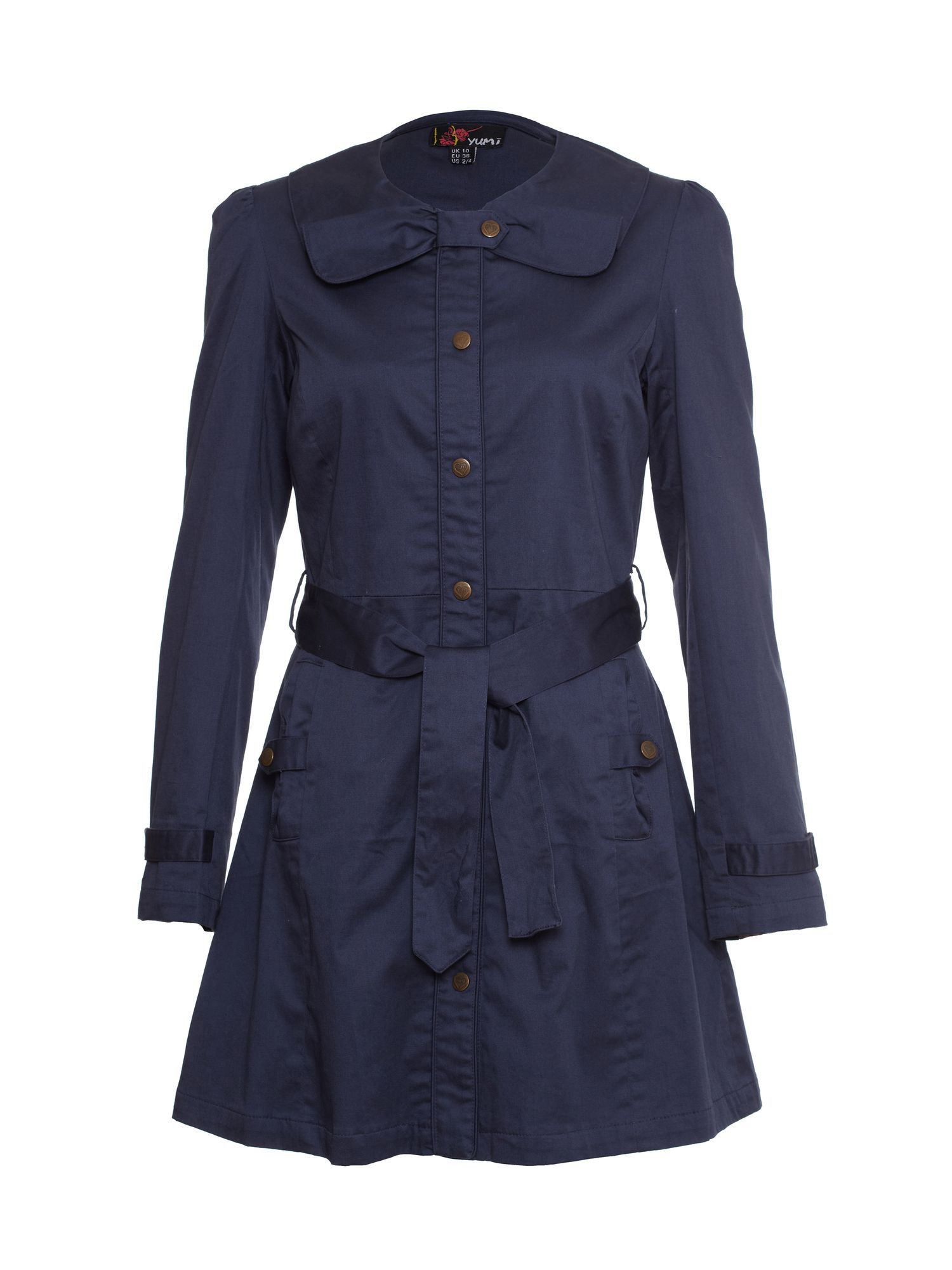 Tie-waisted trench coat