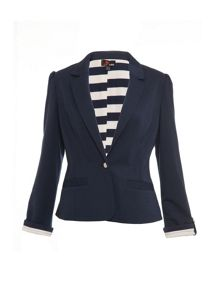 Fitted Jersey Blazer
