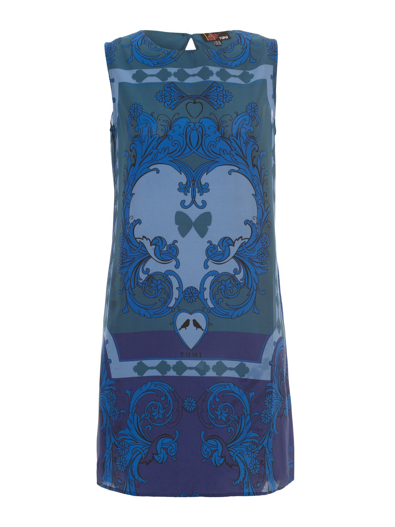 Mirror print shift dress