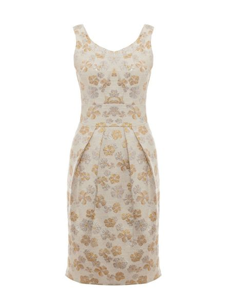 Uttam Boutique Metallic jacquard floral dress