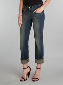 7 For All Mankind Straight leg jeans in Manhattan Dark