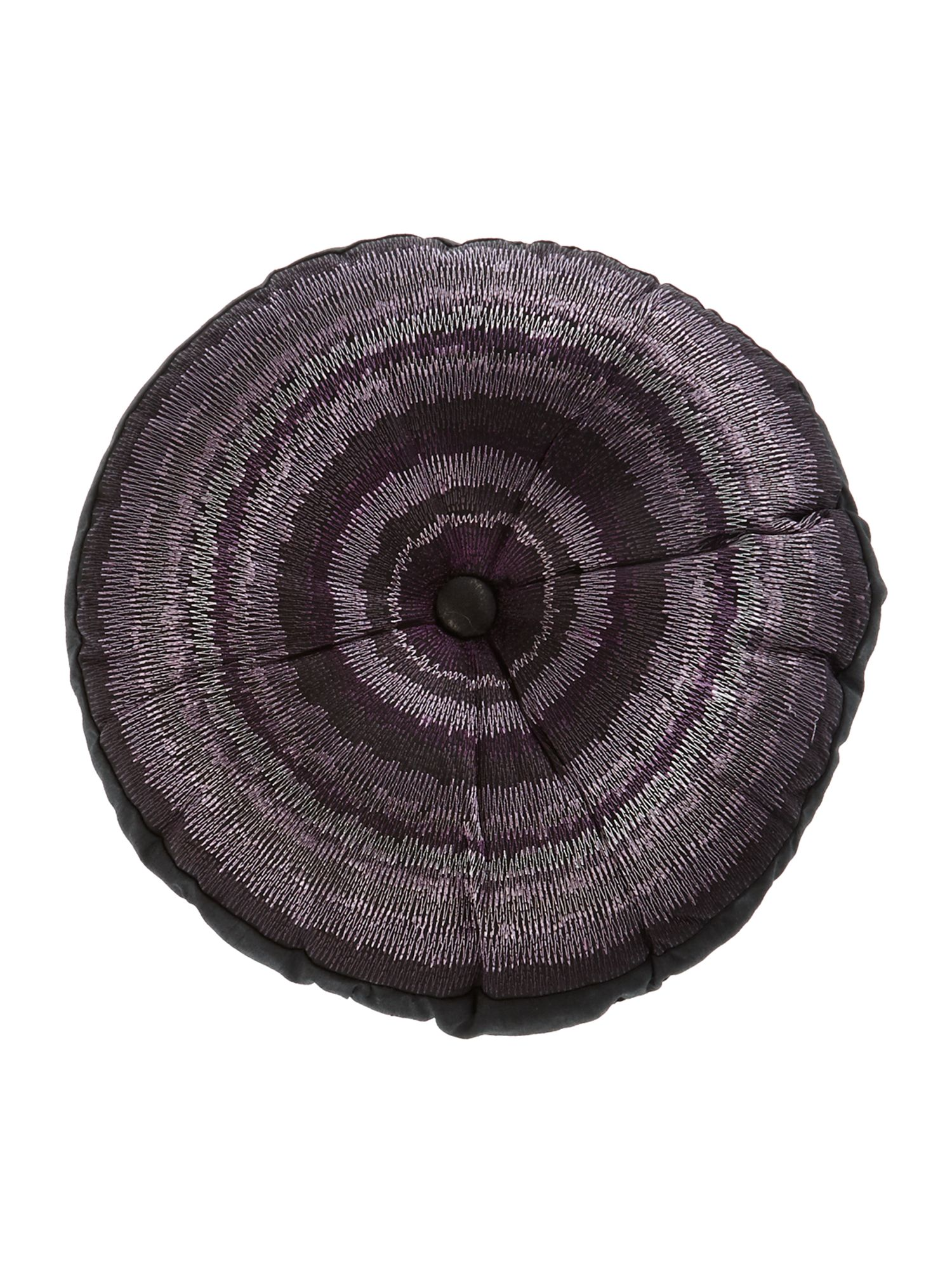 Taryn purple round cushion