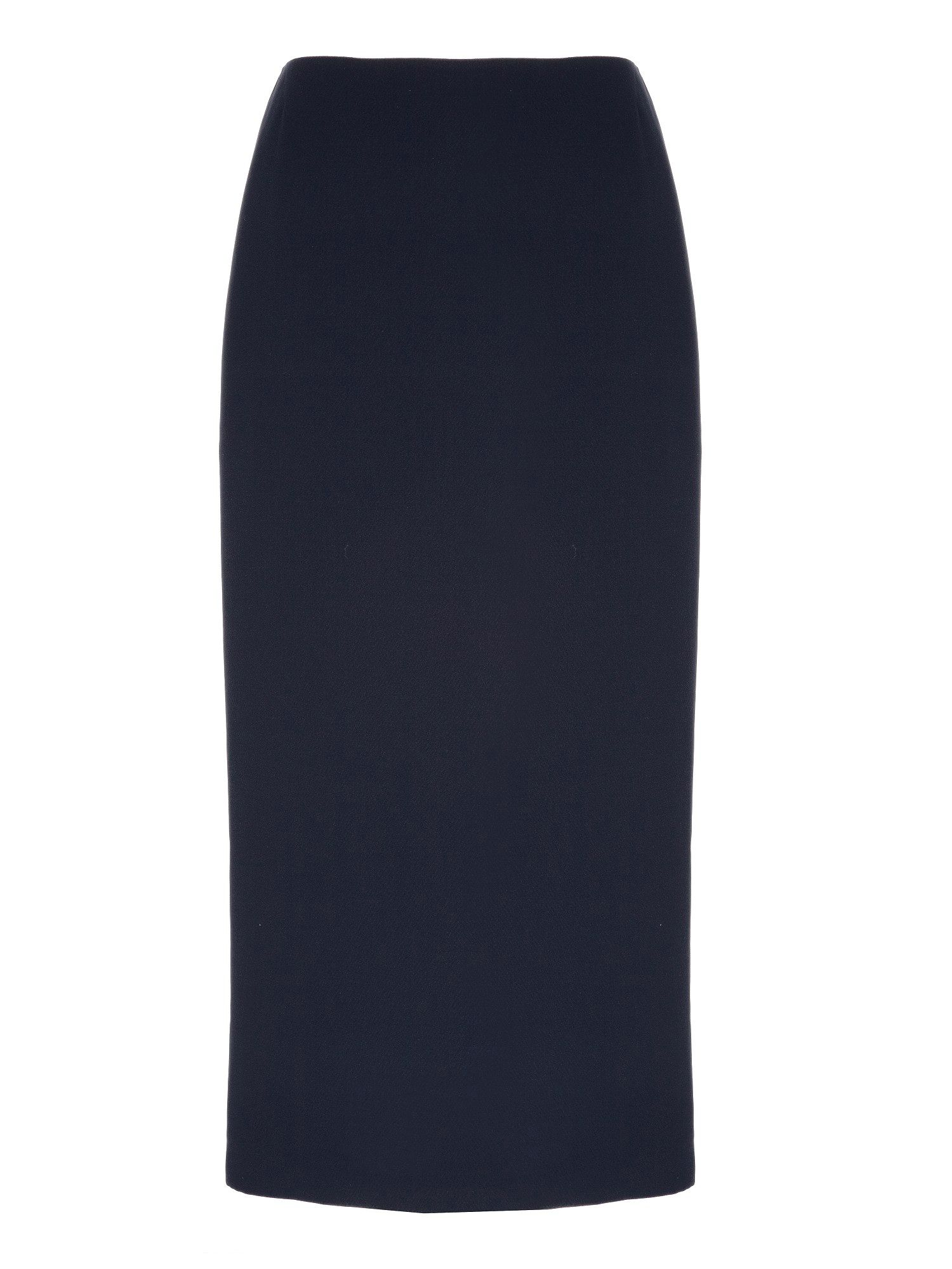 Navy long pencil skirt