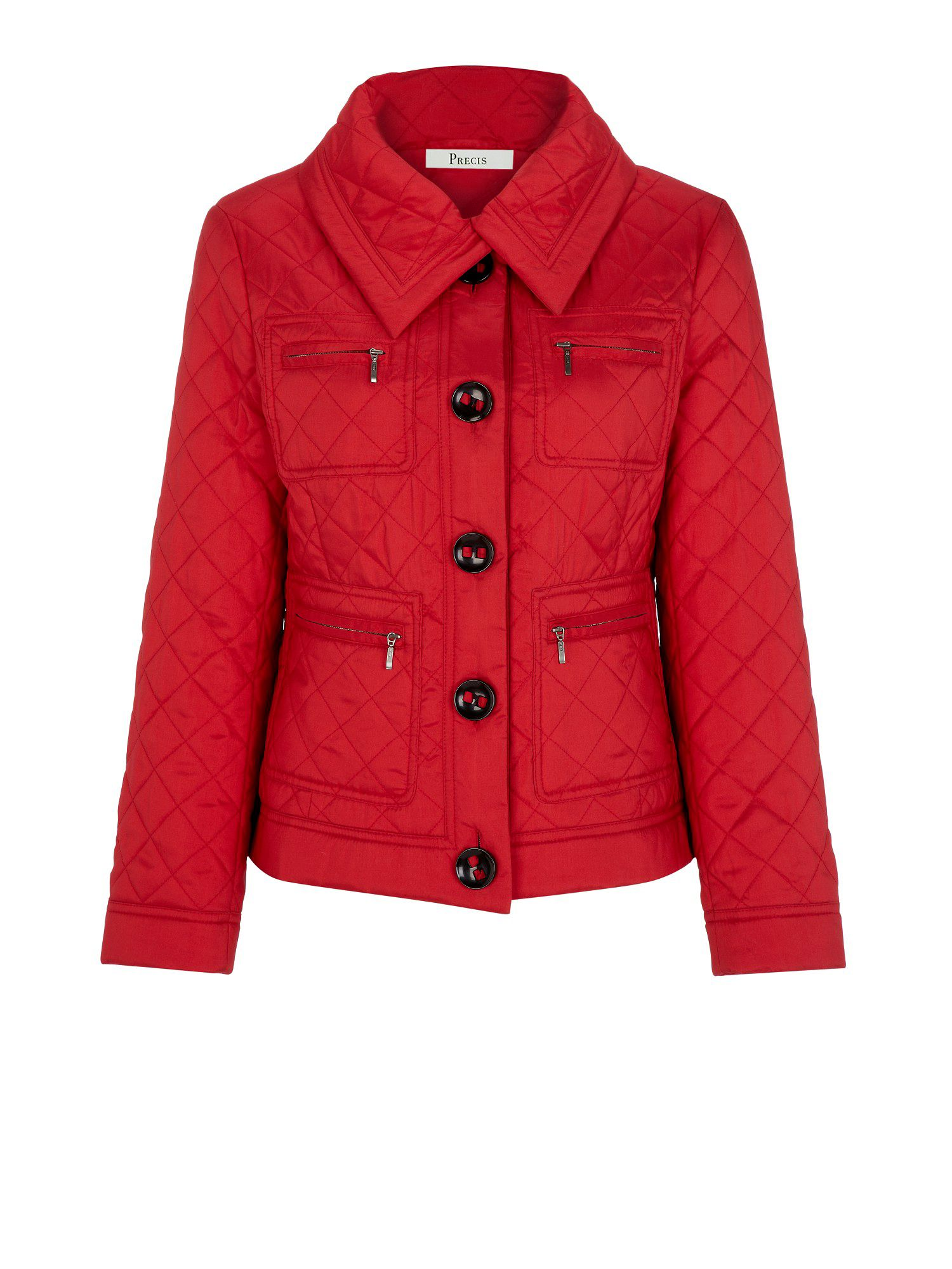 Scarlet diamond quilted jacket
