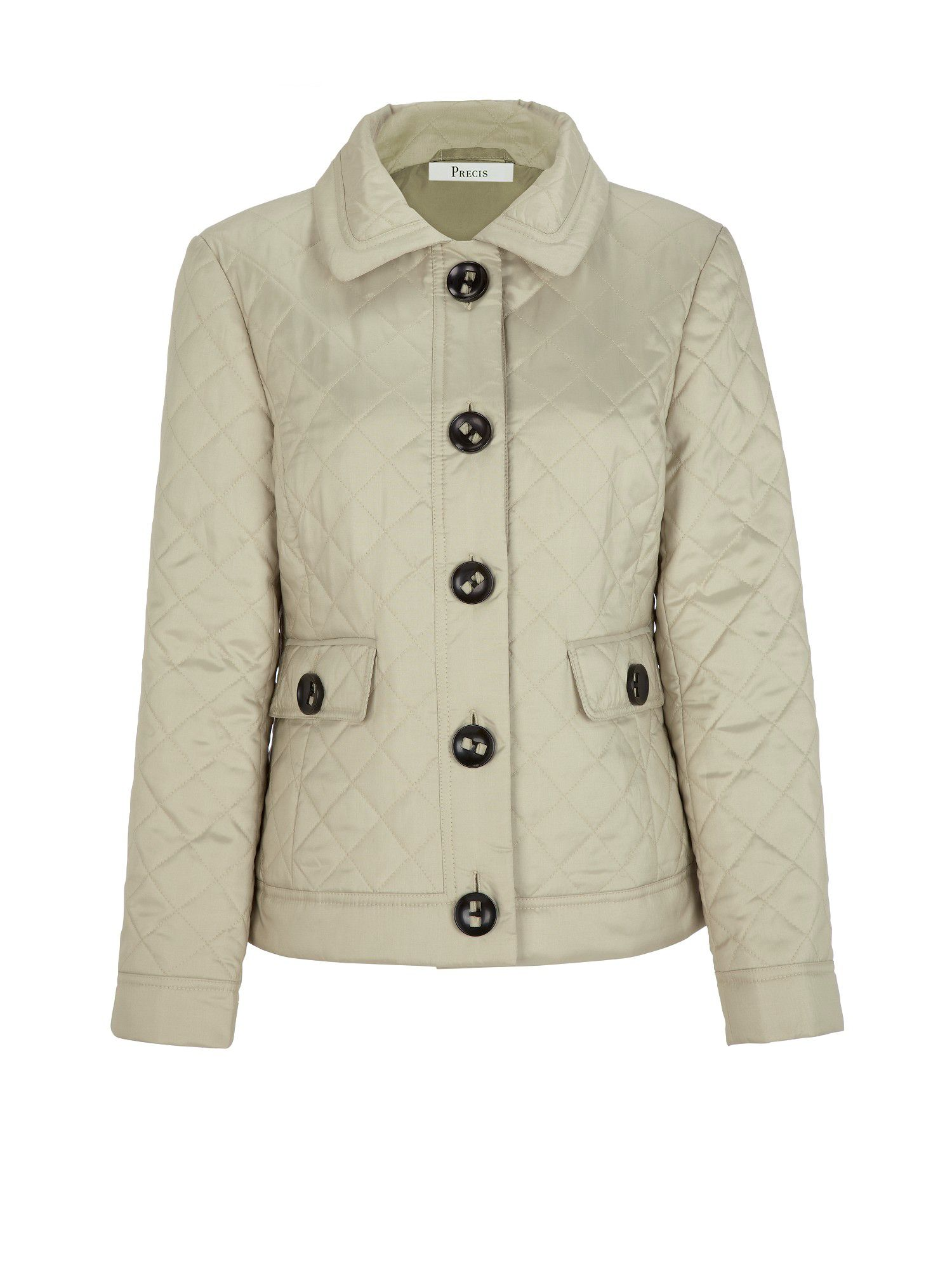 Stone diamond quilted jacket