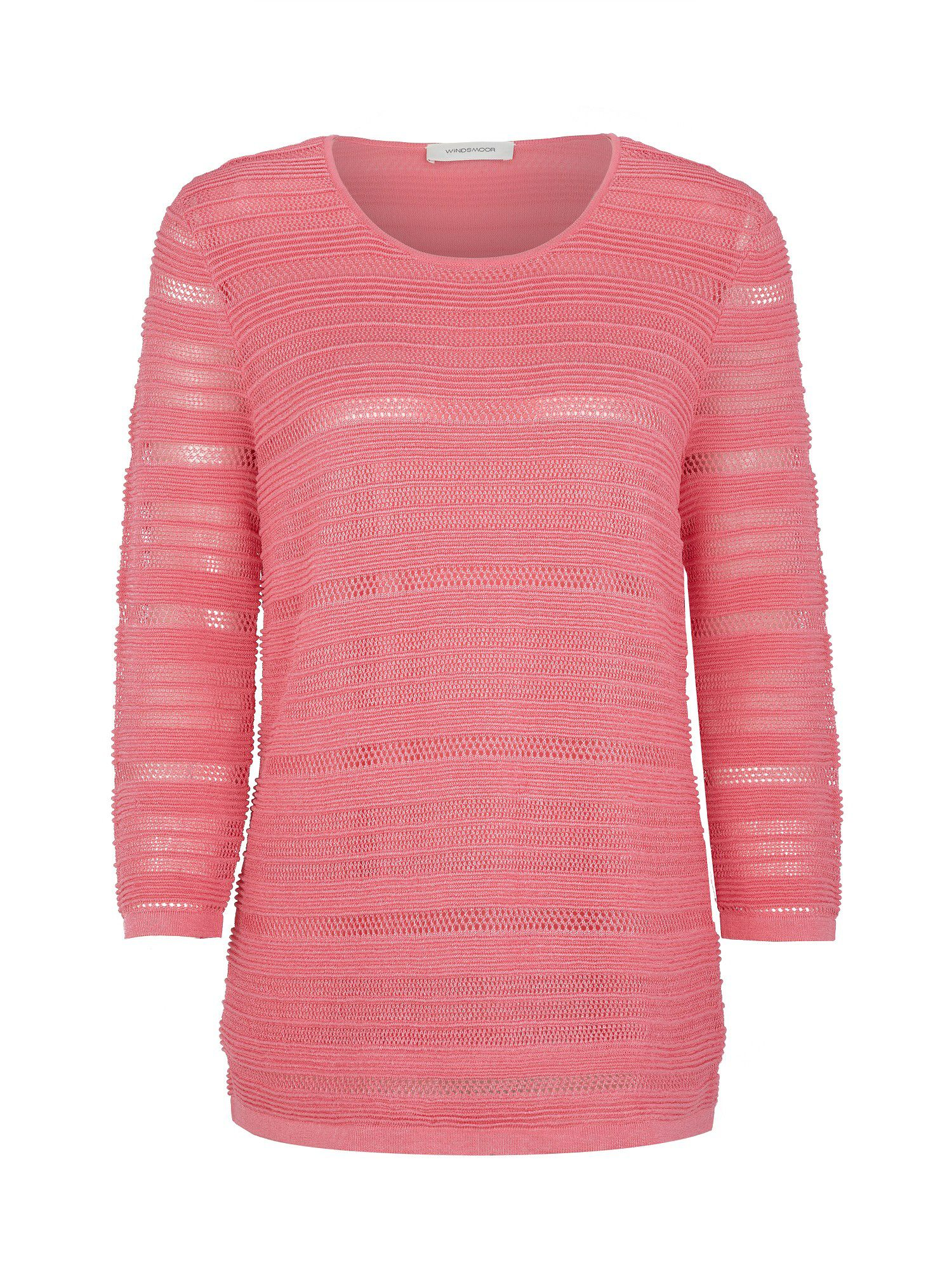Rose textured jumper