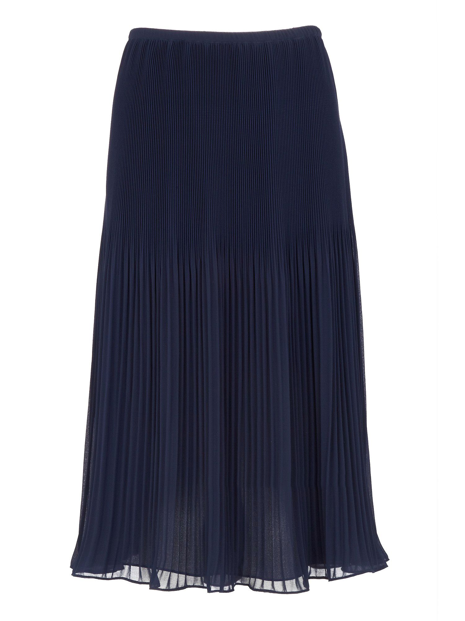 Navy pleated chiffon skirt