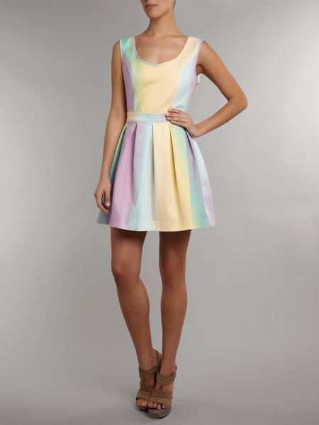 Lashes Rainbow skater dress