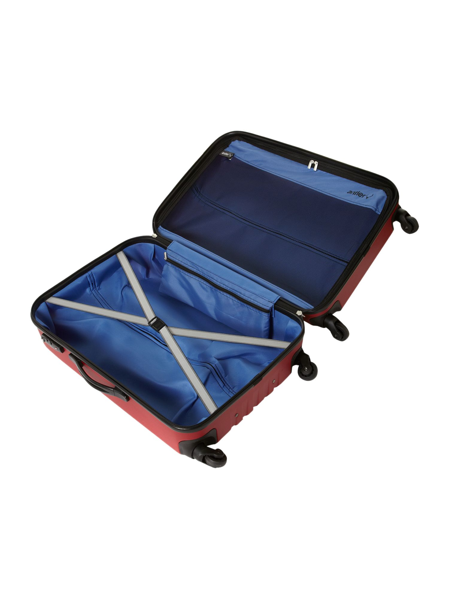 Quadrant 4weel medium suitcase in red