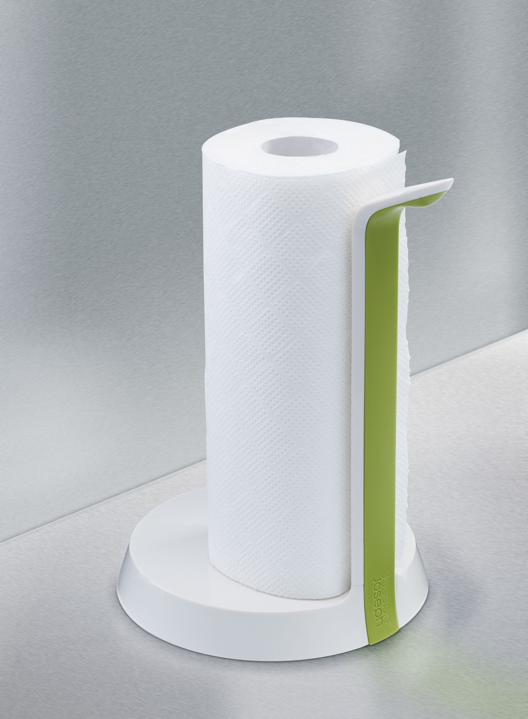Kitchen Roll Holder, White / Green