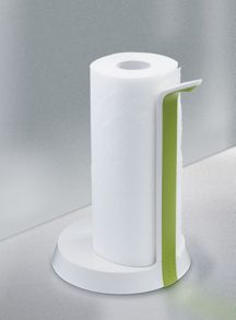 Easy-Tear Kitchen Roll Holder - White/ Green